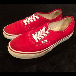 ❤️Red Vans: Men's 9.0, Women's 10.5.